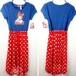 New DISNEY'S Minnie Mouse High-Low Polka-dot Dress